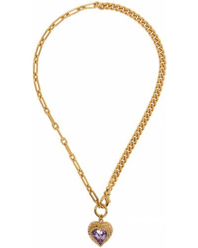 Złoty naszyjnik łańcuch - różowy Safsafu