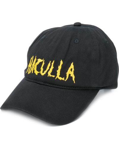 Czarna czapka z haftem bawełniana Haculla