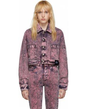Джинсовая куртка длинная розовая S.r. Studio. La. Ca.
