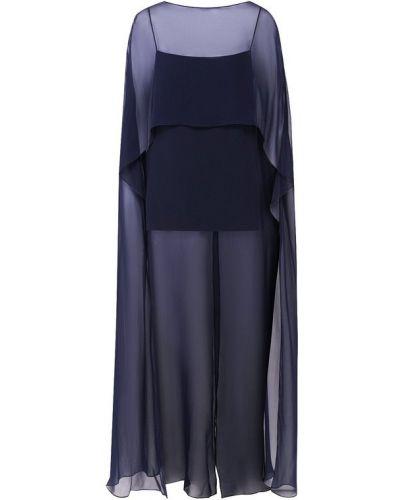 Топ из вискозы темно-синий Ralph Lauren