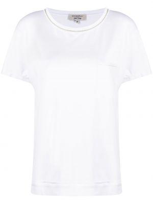 Biały t-shirt bawełniany krótki rękaw Antonelli