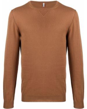 С рукавами коричневый свитер узкого кроя с вырезом Cenere Gb