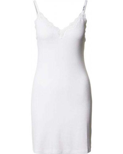 Biała koszula nocna z wiskozy z dekoltem w serek Tommy Hilfiger