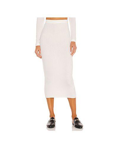 Трикотажная белая юбка на резинке Enza Costa
