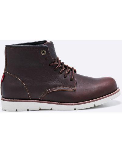 Кожаные ботинки на шнуровке высокие Levi's®