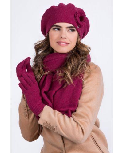 Różowy beret wełniany Kamea