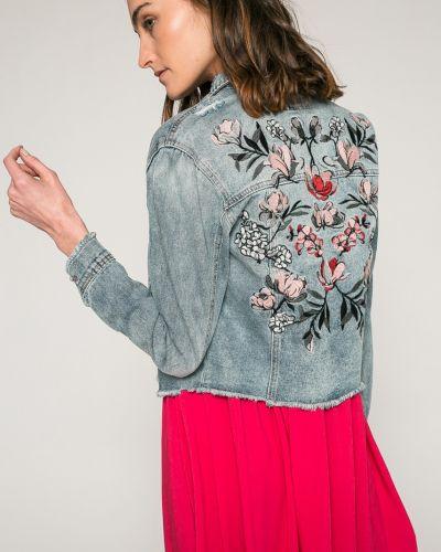 Джинсовая куртка на пуговицах облегченная Only
