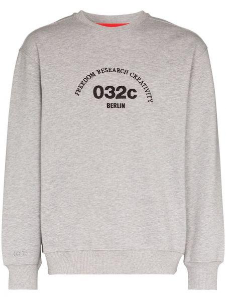 Sweter z haftem bawełniany 032c