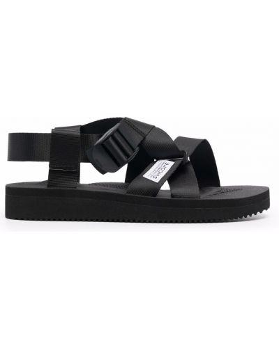 Черные резиновые сандалии Suicoke