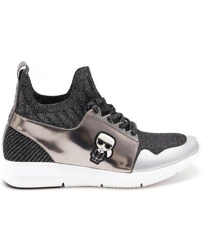 Высокие кроссовки с нашивками Karl Lagerfeld