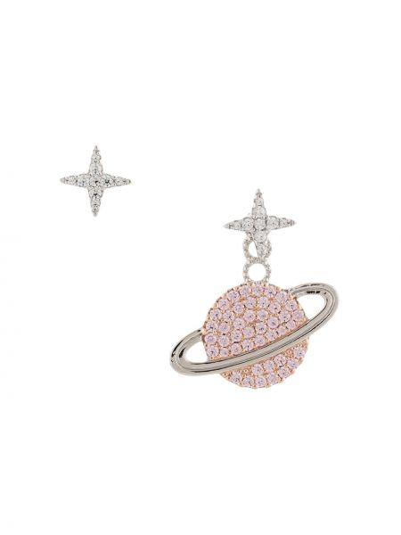 Серьги-гвоздики - розовые Apm Monaco