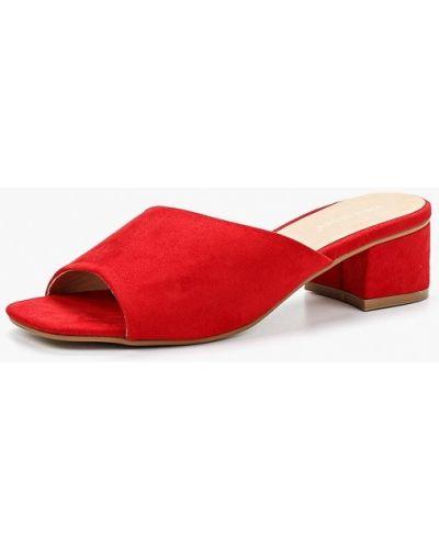 Красные замшевые сабо Ideal Shoes®