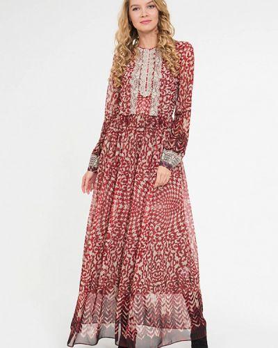 Вечернее платье красный осеннее ярославна