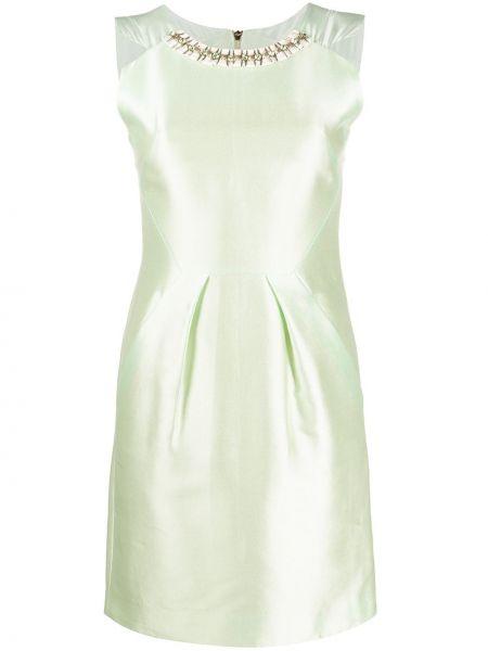 Облегающее шелковое зеленое платье Matthew Williamson