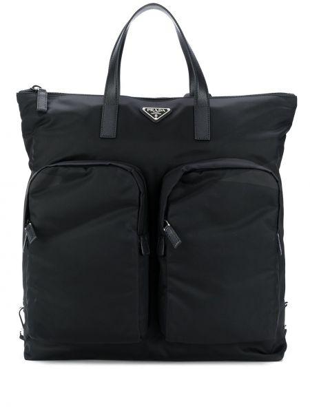 Skórzany plecak przeoczenie Prada