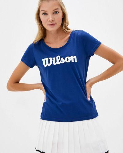 Синее поло Wilson