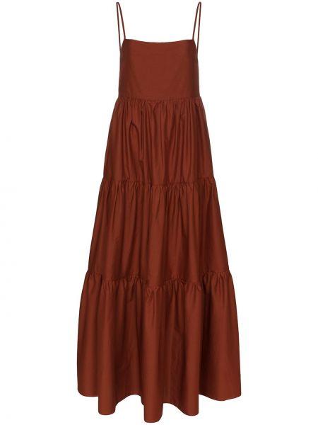 Тонкое платье макси с открытой спиной Matteau
