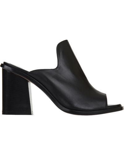 Черные мюли на каблуке Angelo Bervicato