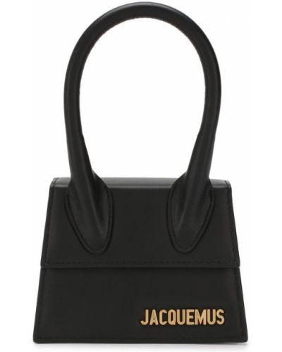 Кожаная сумка черная Jacquemus