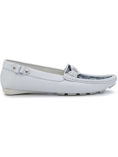 Białe loafers Christian Dior