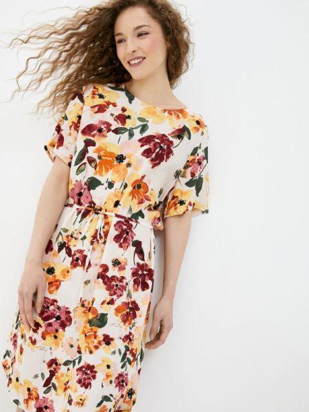 Платье прямое бежевое Ichi