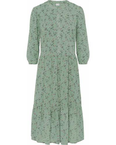Шифоновое зеленое платье Bonprix