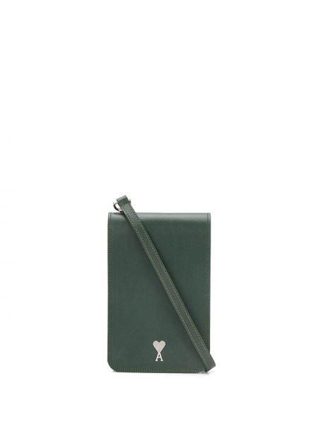 Кожаная сумка - зеленая Ami Paris