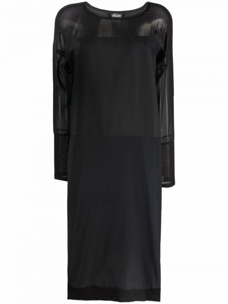 Приталенное шелковое черное платье макси Kristensen Du Nord