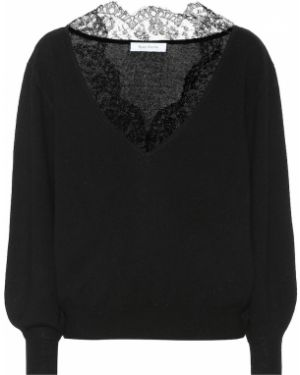 Черный ажурный свитер Ryan Roche
