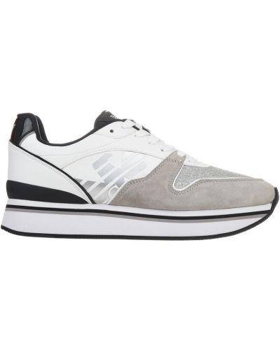 Кроссовки на платформе замшевые Emporio Armani