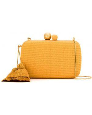 Оранжевая сумка на цепочке Isla