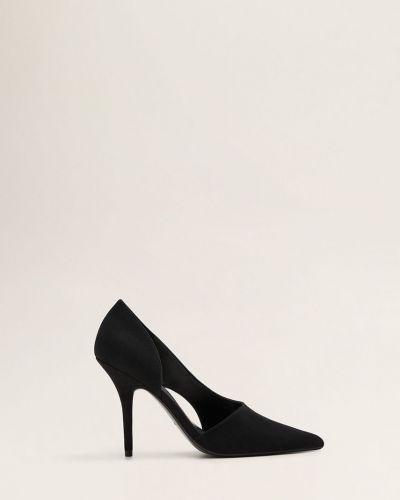 Туфли на каблуке текстильные с острым носком Mango