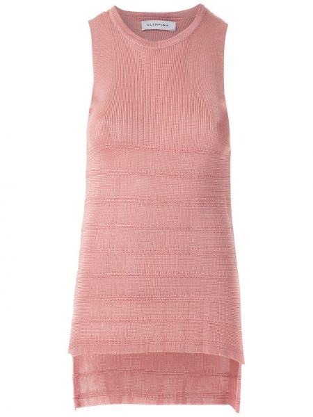 Топ с вырезом - розовый Olympiah