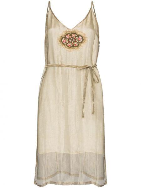 Платье мини винтажное на молнии One Vintage