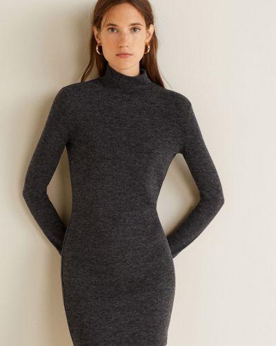 Платье мини с поясом с длинными рукавами Mango