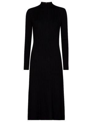 Черное платье миди Vince.
