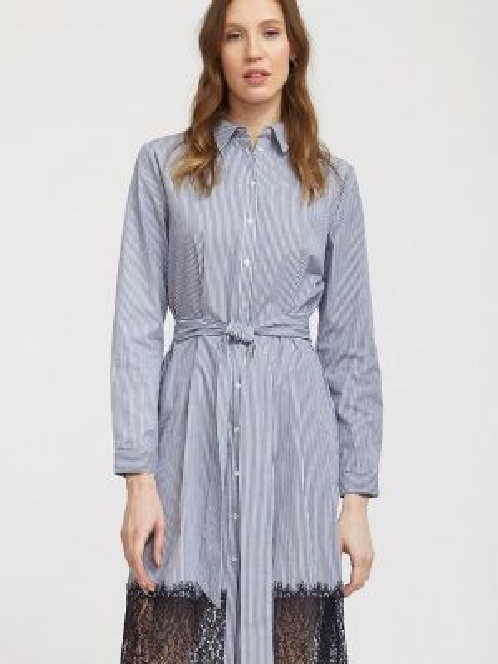 Платье платье-рубашка синее Calista