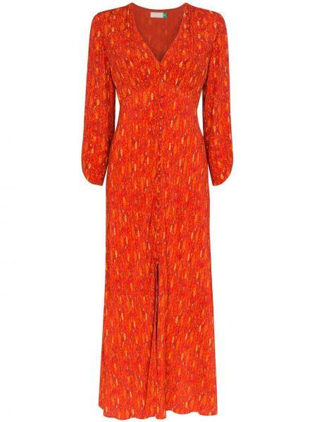 Платье миди винтажная на пуговицах Rixo