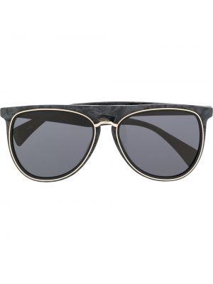 Złote czarne okulary Yohji Yamamoto