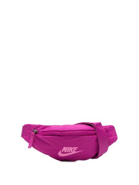 Różowy pasek z paskiem z printem Nike