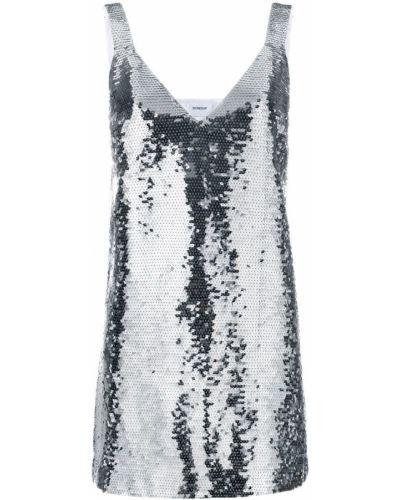 Платье мини с пайетками с V-образным вырезом Dondup
