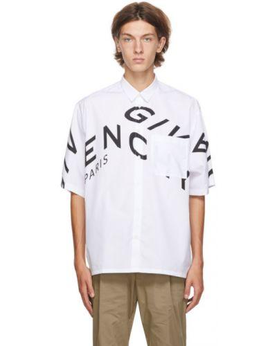 Bawełna czarny koszula krótkie z krótkim rękawem z kieszeniami z łatami Givenchy