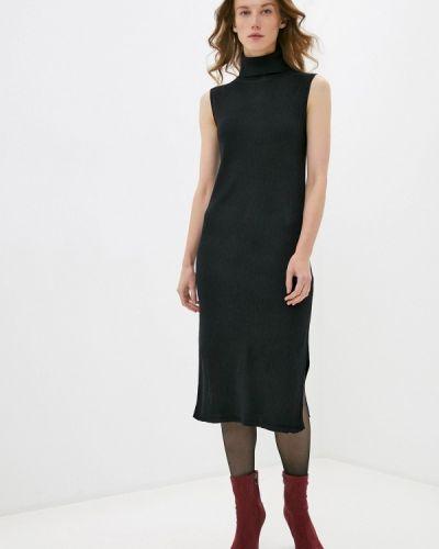 Прямое черное платье Zarina