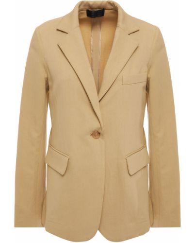 Льняной бежевый пиджак с карманами Nili Lotan