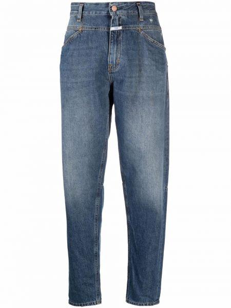 Синие джинсы с заплатками Closed