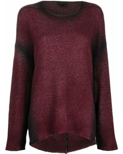 Прямой шерстяной красный свитер с круглым вырезом Avant Toi