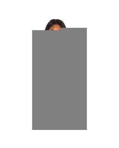 Нейлоновый черный топ с V-образным вырезом с оборками Majorelle