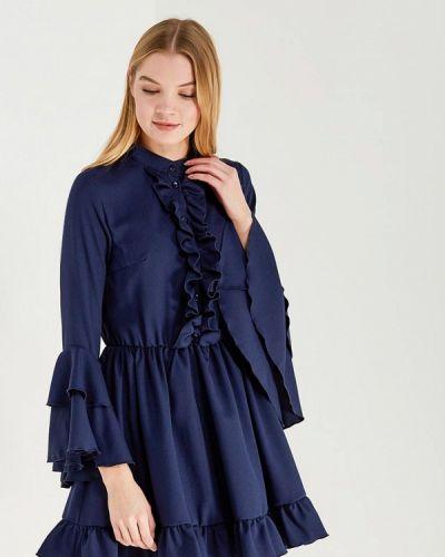 Платье осеннее синее Chic