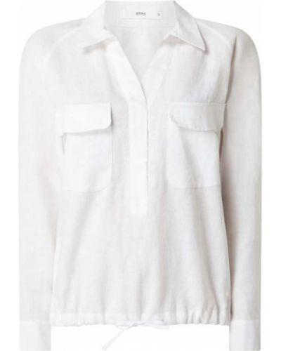 Biała bluzka z raglanowymi rękawami Brax