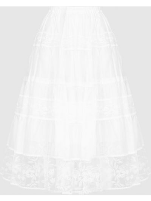 Белая юбка миди Ermanno Scervino